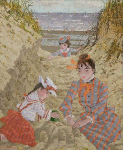 Dan les Dunes de St. Cecile a Maree Basse