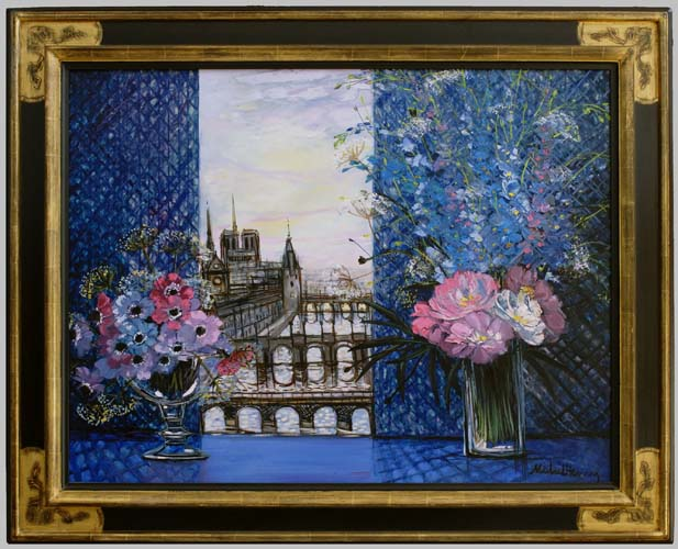 Paris en Bleu Framed
