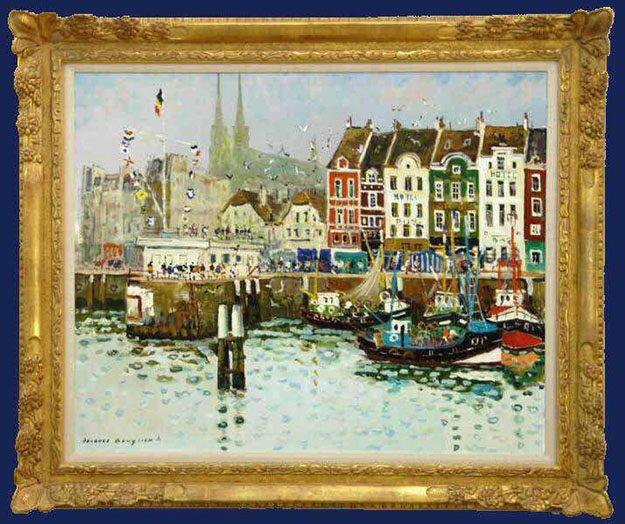 Le Port d'Ostende Framed