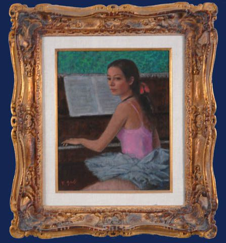 Piano Lesson Framed