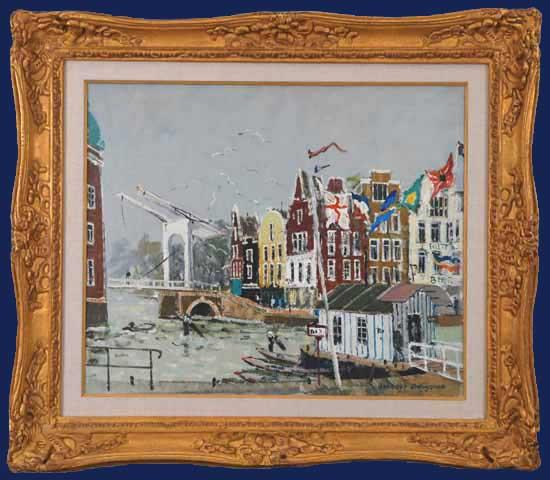 Amsterdam - Canal Rokim Framed