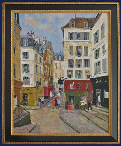 La Vieille Rue - Paris Framed