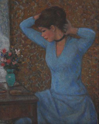 Jeune Femme devant la coiffeuse