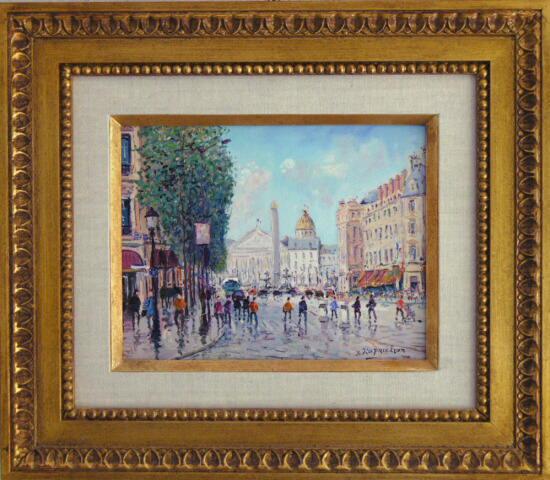 Paris - Rue Royal Framed