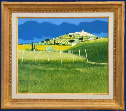 Le Village blanc Framed