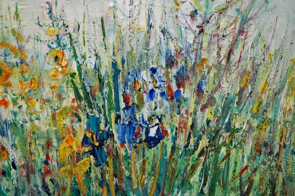 Fleurs et Bateaux On Wall