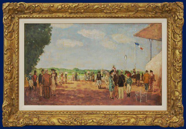 Longchamp Race Track Framed