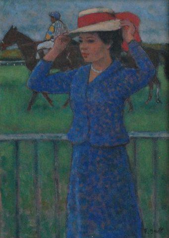 Femme aux Courses d'Auteuil