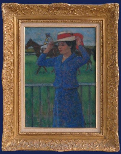 Femme aux Courses d'Auteuil Framedz