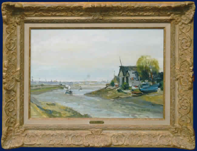 Fishing Boats on Seine Framed