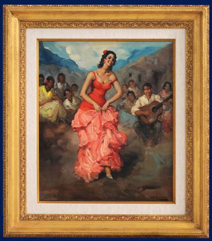 Flamenco Dancer Framed