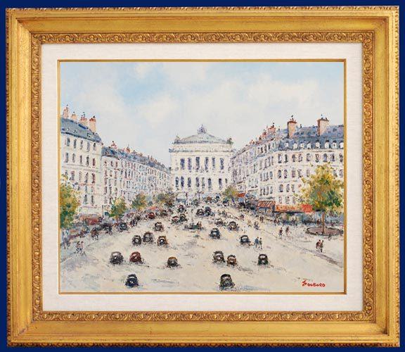 Paris, Avenue de l'Opera Framed