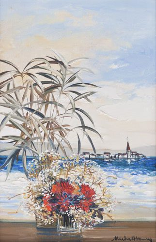 Flowers by Shore