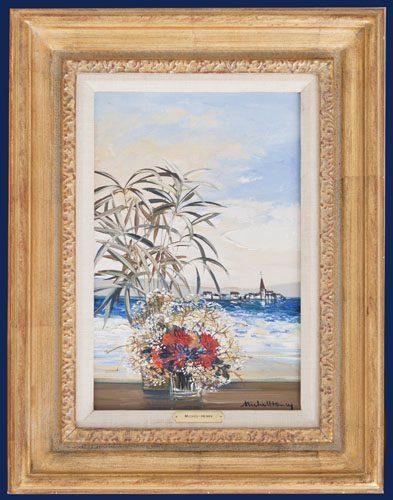 Flowers by Shore Framed