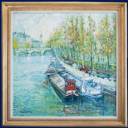 Paris - Seine River Framed