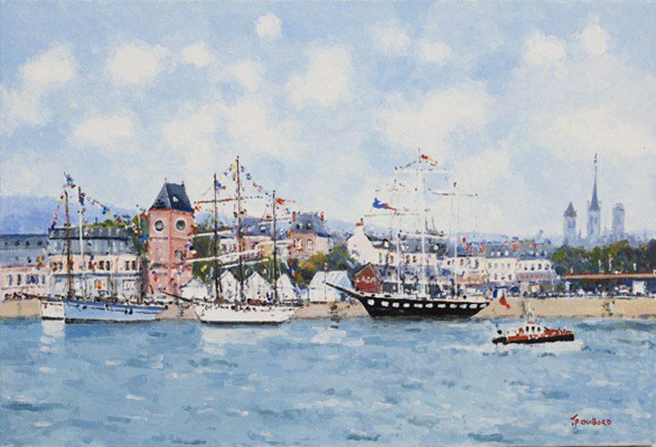 Radezvous des viewx Bateaux dans le Port de Rouen