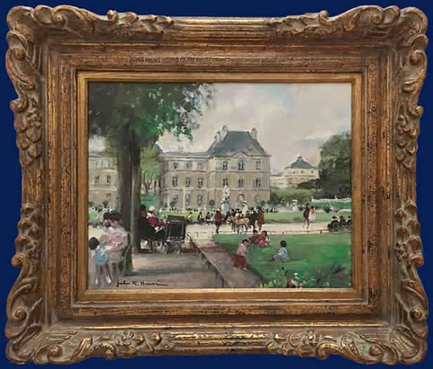 Jardin du Luxcembourg Framed