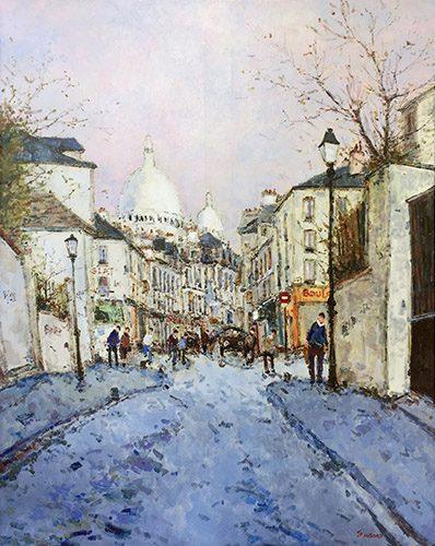 Rue Norvin a Montmartre On Wall