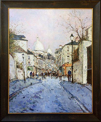 Rue Norvin a Montmartre Framed