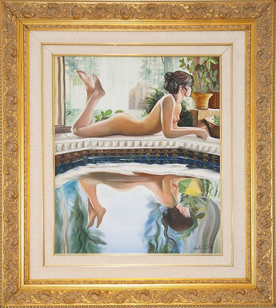 Nude with Reflection Framed