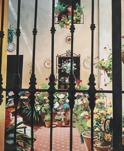 Flower Court Framed