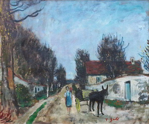 Village, Ane et Charrette