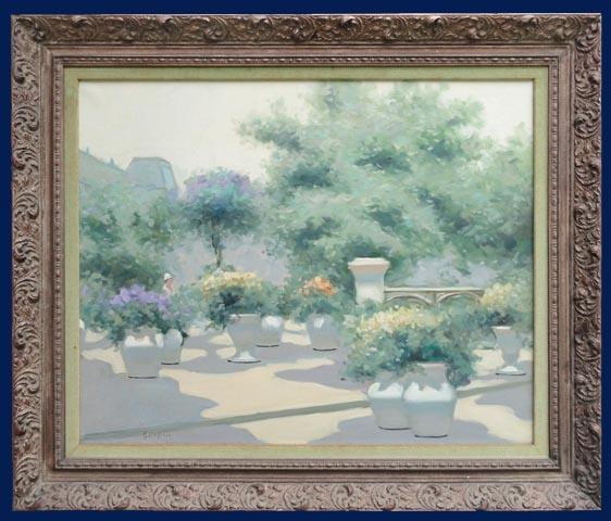 Garden in Paris Framed
