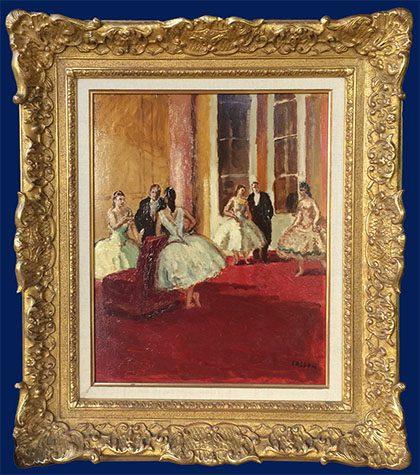 Le Foyer de l'Opera Framed