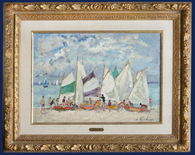 Sailboats Framed