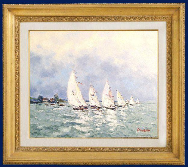 Sailboats (Regate) Framed