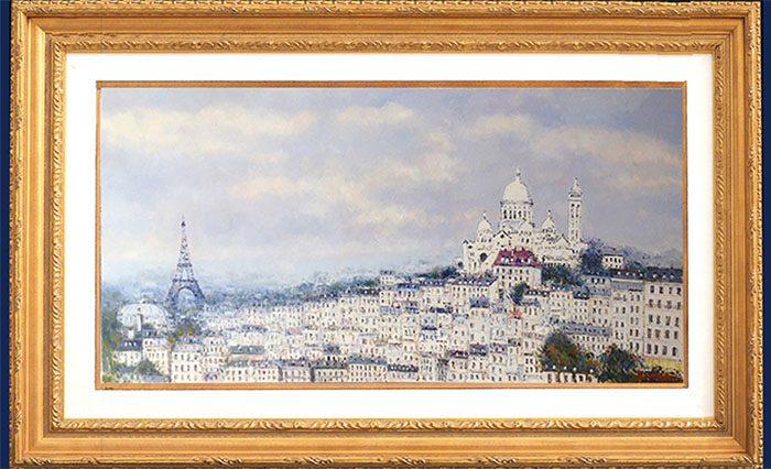 Vue de Paris Framed
