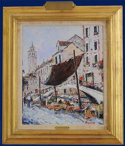 Venise, La Marchande de Legume Framed