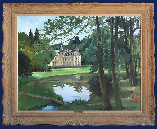 Le Chateau d'Ermanovile Framed