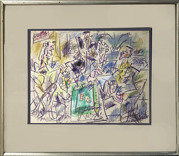 Card Players Framed
