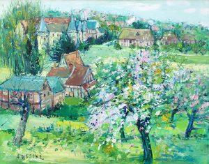 Abres en fleurs dans le Village