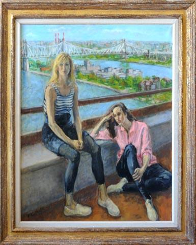 Two Girls Framed