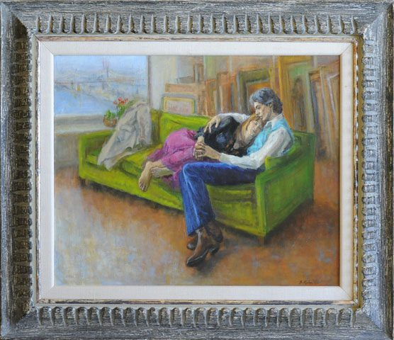 Young Couple Framed