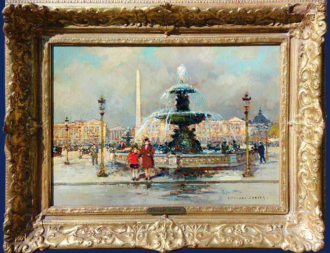 Fontaine Place de la Concorde Framed