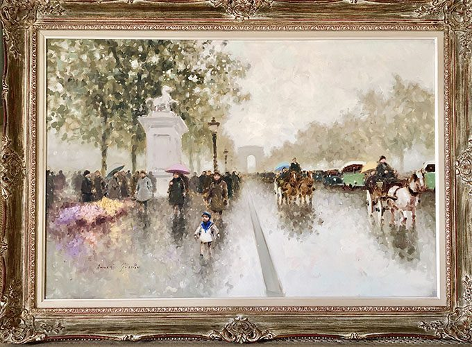 Paris at the turn of the Century Framed