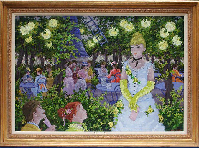 Au Jardin de l'anciein Moulin de la Galette Framed