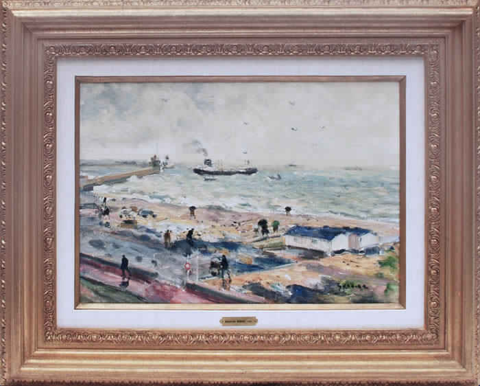 Pluie au Havre Framed