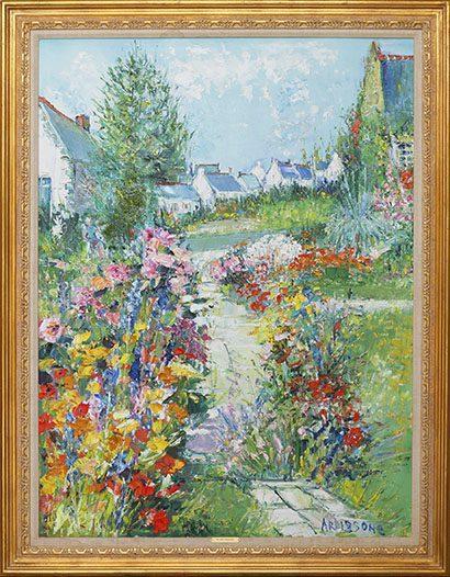 Fleurs a Carnac Framed