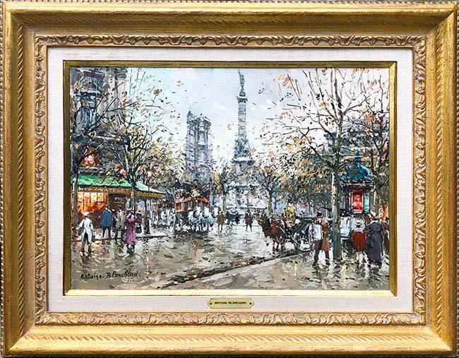 Place du Chatelet Tour St. Jacques Framed