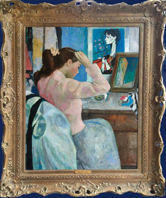La Jeune Femme et Picasso Framed