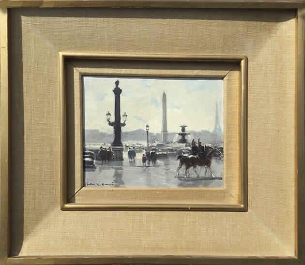 Place de la Concorde - Paris Framed