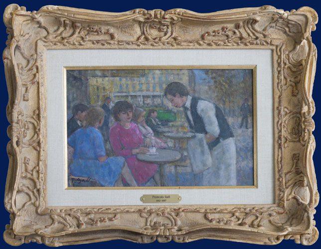 A la Terrasse du Cafe Framed