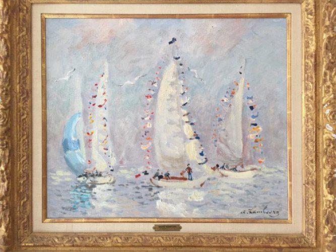 Les Yachts Pavoises - Deauville Framed