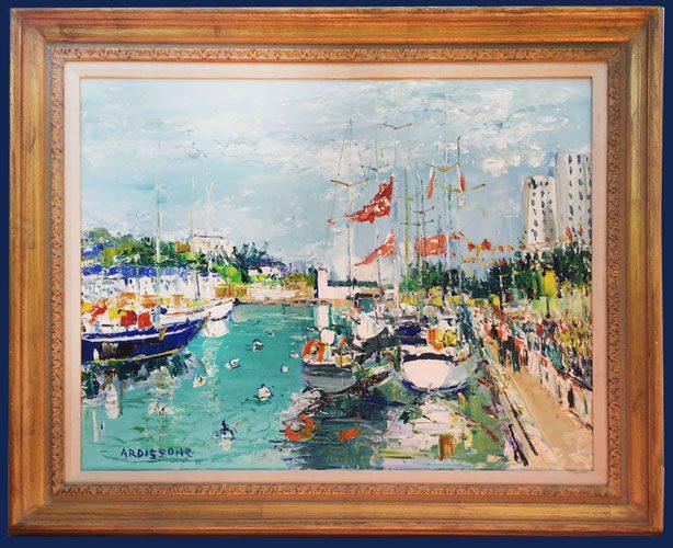 Les Bateaux de la Transate de Lorient Framed