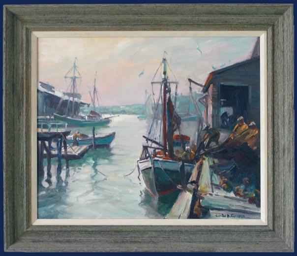 Morning Inner Harbour Framed