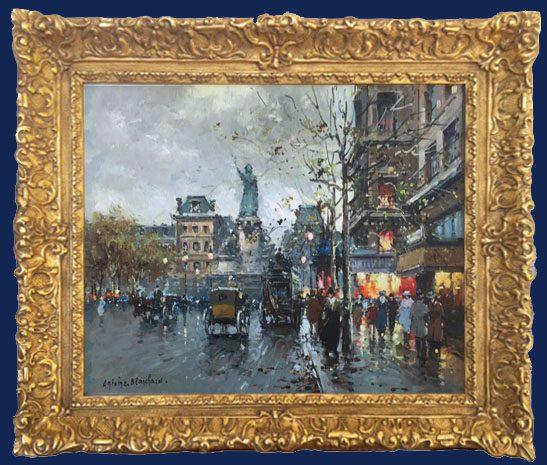 Place de la Republic Framed